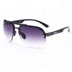 Litledesire Semi-Rimless Metal Frame Men Sunglasses UV400