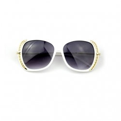 Littledesire Designer Vintage Metal Oval Sunglasses UV400