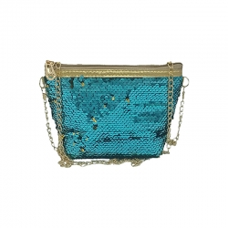 Littledesire Sequins Glitter Crossbody Sling Chain Bag - 9 Inch