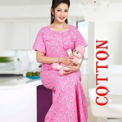 Printed Feeding Women's Cotton Nightwear