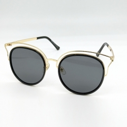Designer Round Mirrored Lens Metal Frame Sunglasses