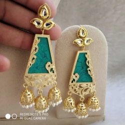 Three Layered Jhumka Earrings