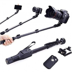Bluetooth Wireless Selfie Stick 1250 mm  Phone Clicking Photos Making Video & Attached AUX Cable