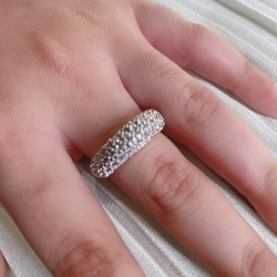 Round Shape Silver Plated Zirconia Ring
