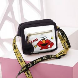 Forever Young Cartoon Pu Leather Shoulder Messenger Bag