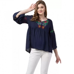 Littledesire Embroidered Work Flared Top
