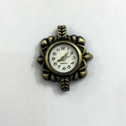 Antiqued Bronze Square Watch
