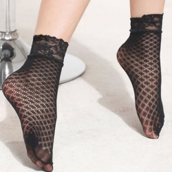 Sexy Fishnet Net Ankle Short Socks