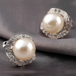 Elegant Simulated Pearl Earrings
