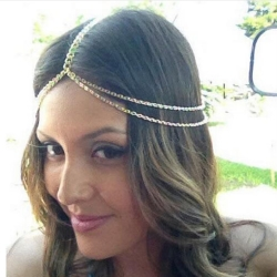 European Multi Layer Gold Plated Head Chain