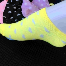 Yellow Heart Shape Socks