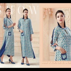 Littledesire Straight Printed Long Kurta