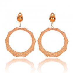 Littledesire Fashion Mesh Circle Drop Earrings