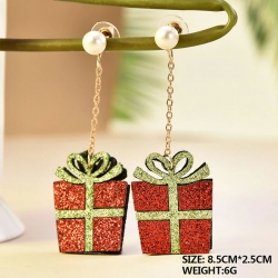 Fashion Creative Christmas Gift Box Shape Earrings