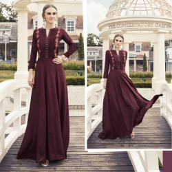Littledesire Embroidered Work Style Gown