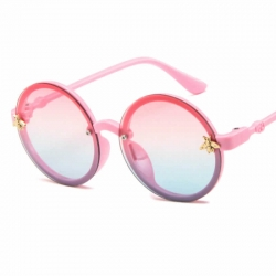Round Unisex Kids Luxury Honey Bee Oversize Sunglasses