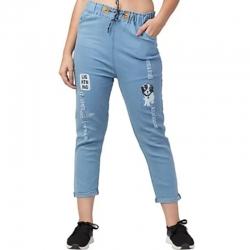 Trends Fashion Women Denim Joggers Jeans
