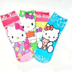Cute Hello Kitty Socks for Kids 6 to 13 Years - 4 Pairs