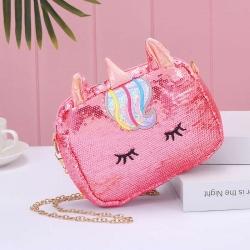 Unicorn Glitter Sequin Cross body Shoulder Bag for Girls
