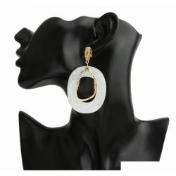 Fashion Irregular Acrylic Geometric Hollow Out Dangle Earrings