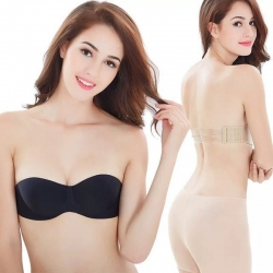 Half Cup Push Up Flexible Size Strapless Bra