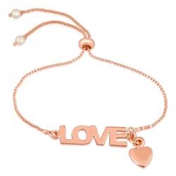 Rose Golden Plated Eternal Love Adjustable Bracelet