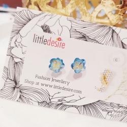Simple Glass Stud Earrings