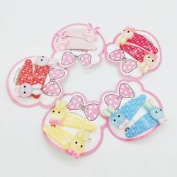 Cute Rabbit Tik Tak Hairpin Babies Kids Girls Pack of 5