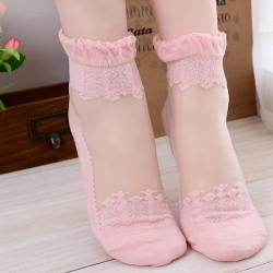 Ultrathin Transparent Lace Short Socks