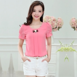 Korean Fashion Retro Pink Top