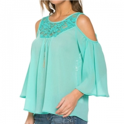Fashion Summer Loose Casual Lace Tops