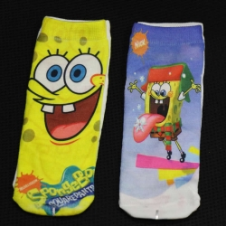 SpongeBob SquarePants Socks for Kids 6 to 13 Years - 2 Pairs