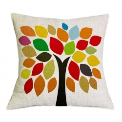 Geometric Tree Pattern Jute Cushion Covers