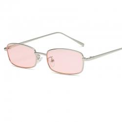 Light Pink Unisex Small Square Sunglasses