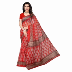 Littledesire Kota Doria Printed Saree With Blouse