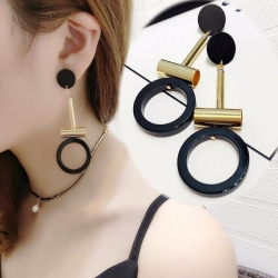 Round Tube Drop Earring