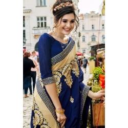Littledesire Georgette Silk Embroidered Saree