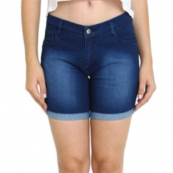 Blue Washed Skin Tight Denim Hot Pant