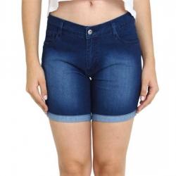 Blue Washed Skin Tight Denim Hot Pant