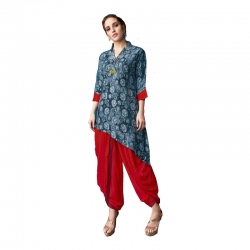 Littledesire Printed Kurti With Dhoti Salwar