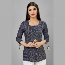 Littledesire Square Neck Printed Short Kurti Top