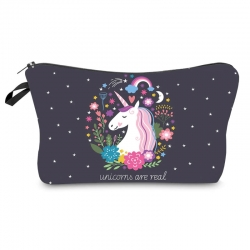 Littledesire Printed Unicorn Toiletry Organizer Bag