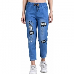 Trends Fashion Women Denim Joggers Jeans