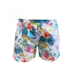 Cotton Blend Women Floral Print Shorts