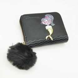 Mermaid Logo Cute Zipper Wallet