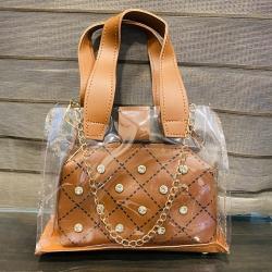 Stone Transparent Handbags & Shoulder Sling Bag