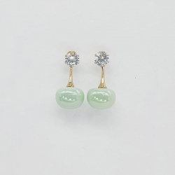 Simple Big Simulated Pearl Beads Drop Earrings