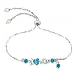 Rose Golden & Silver Plated Immense Crystal Love Bracelet