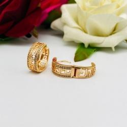 Rose Gold-Plated Round Shape Hoop Earrings