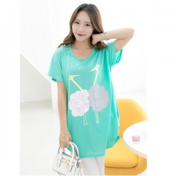 Short Sleeve O Neck Long Top
